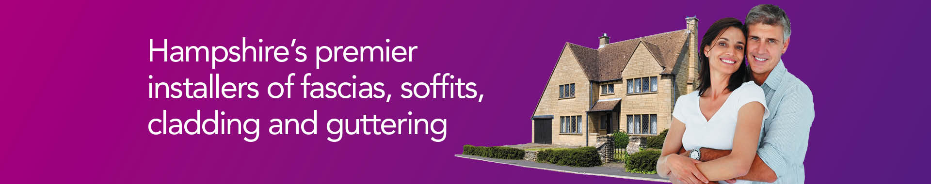 Hampshire's premier installers of fascias, soffits, cladding and guttering